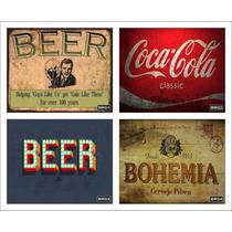 Placas Decorativas Retro Vintage Bebidas Pin Up Pop Art