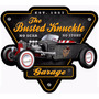 Placas Decorativas Hot Rod, Rat Rod Busted Knuckle Garage
