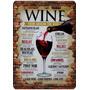 Placa Madeira Mdf Decorativa Vinho Wine 40 Cm X 28 Cm
