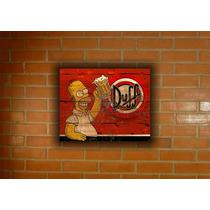Placa Decorativa Vintage Retro Os Simpsons Duff Beer