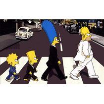 Placas Decorativas Os Simpsons Vintage Retro Decoração