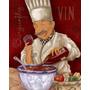 Placas Decorativas Vintage Chefes De Cozinha - Oficina Retrô