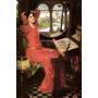 Dama Shalott Máquina De Tear 1916 Pintor Waterhouse Tela Rep