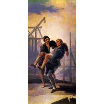 Homem Da Maçonaria Ferido Carregado Pintor Goya Tela Repro