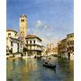 Grande Canal Veneza Itália Barco Pintor Caprile Tela Repro