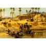 Núbia Deserto África Camelos Pintor Bridgman Tela Repro
