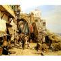 Rua De Jafa Israel Árabes 1890 Pintor Bauernfeind Tela Repro