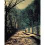 Sombra De Arvores No Muro Parque Pintor Grimshaw Tela Repro