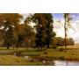 Paisagem Campo Riacho Árvores 1882 Pintor Inness Tela Repro