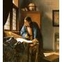 O Geógrafo Mapas Reprodução Pintor Holandes Vermeer Na Tela