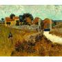 Fazenda Em Provença França 1888 Pintor Van Gogh Tela Repro