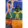 Arte Abstrata Dança Naturismo Flor Pintor Matisse Tela Repro