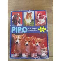 Quebra Cabeça - 4 Puzzles - Pipo Cães - Infantil - Antigo