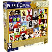 Quebra-cabeça Grow Série Classic 5000 Peças Happy Dogs