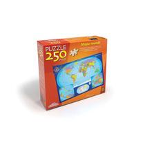 Novo Quebra-cabeça Puzzle Grow 250 Peças Mapa Mundi