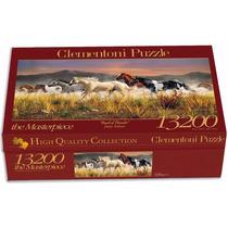 Quebra Cabeça Puzzle Gigante Importado 13.200 Peças Cavalos