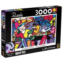 Quebra-cabeça - Romero Britto Latin Grammy - 3000 Peças - Gr