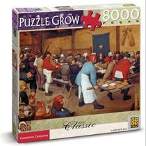 Puzzle Classic Casamento Camponês 8000 Peças Grow