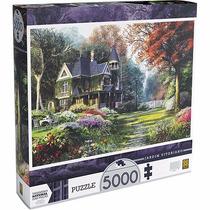 Quebra-cabeça Puzzle 5000 Peças Jardim Vitoriano Grow