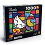 Novo Quebra Cabeça Puzzle Grow 1000 Peças Romero Britto Cat