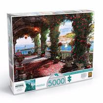 Quebra Cabeça Puzzle 5000 Peças Tarde Na Varanda Grow