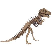 Quebra Cabeça Dinossauro T-rex 3d Mdf Cortado A Laser