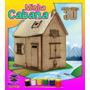 Casa Da Boneca 3d C/móveis - Cabana - Kit P/colorir E Montar