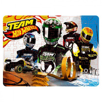 Quebra Cabeca Hot-wheels Time 4 Pilotos 100 Pcs Y3097