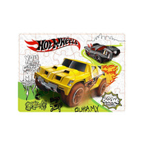 Quebra Cabeca 24 Pc - Hot-wheels Carro Off Road Y3068