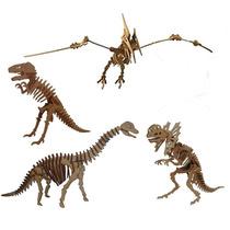 Coleção Dinossauros Quebra Cabeça 3d Mdf Cortado A Laser