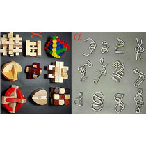 Quebra Cabeça Madeira E Metal 28 Modelos C/instruções.nota F