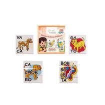 Quebra Cabeça Silábico Animais Brinquedo Pedagógico