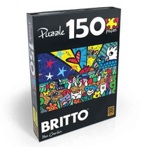 Quebra Cabeça Puzzle 150 Peças Romero Britto - Mias Garden