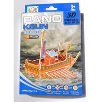 Quebra Cabeca 3d Pano Ksun Navio Barco Puzzle Novo Caixa