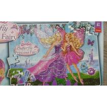 Barbie Borboleta E Princesa Fairy - Quebra Cabeça 100 Peças