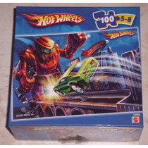 Quebra Cabeça - Hot Wheels - Mattel - Completo