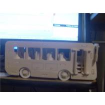 Ônibus Mdf 3d Cortado A Laser Puzzle Quebra Cabeça Brinquedo