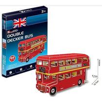 3d Cubic Fun Double Decker Bus Onibus Quebra Cabeça Modelo