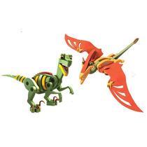 Dinossauro Brinquedo Quebra Cabeça 3d Wamboo
