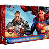 Quebra Cabeça Panorâmico Superman 250 Peças - Jak - Puzzle