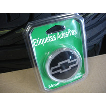 4 Emblemas Retos Adesivo P/ Calota E Roda Gm Chevrolet Ø55mm