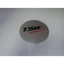 Emblema Tsw Adesivo Para Rodas Esportivas 90mm