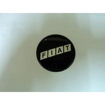 Emblema Fiat Preto Adesivo Para Rodas Esportivas 58mm