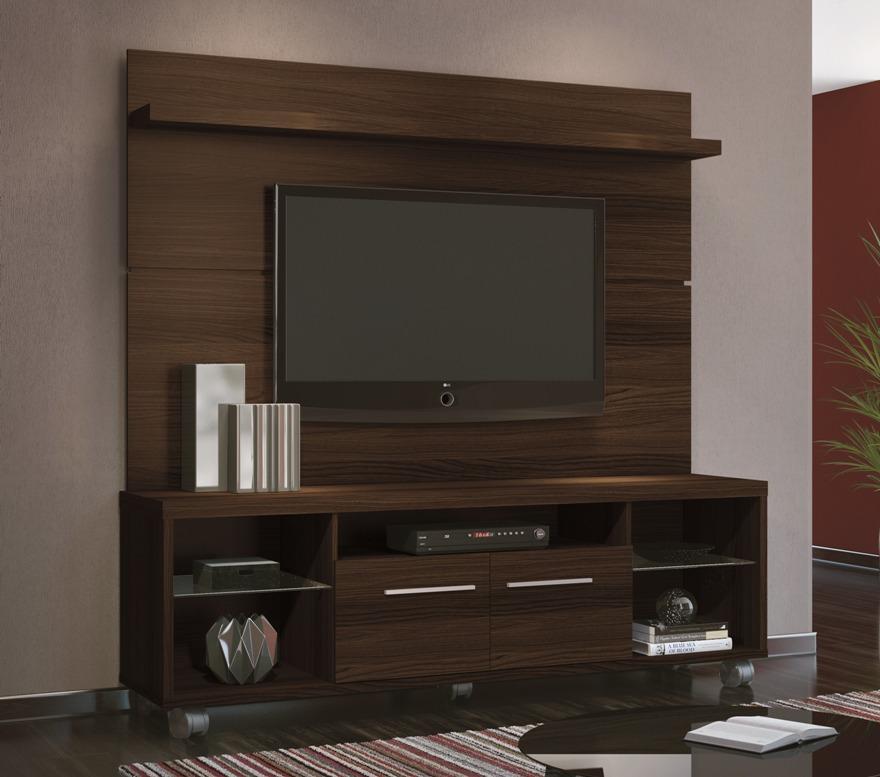 Decoracao De Sala De Tv Com Painel ~ Rack Bancada Com Painel Personale Sala Tv Até 60 Mocaccino  R$ 899