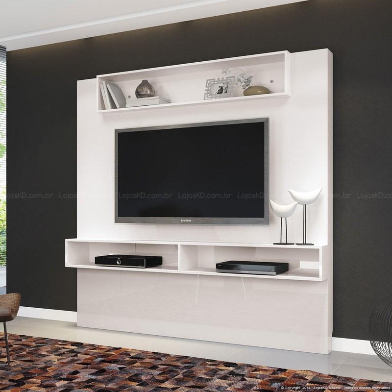 Rack Branco Com Painel Para Quarto ~ Rack Painel Suspenso C Nicho P Tv Led ?ggio 1,81m Branco  R$ 449