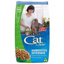 Ração Cat Chow Adultos Ambientes Internos 3kg _ Purina