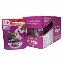Whiskas Sachê Carne 85g - Kit Com 24 Unidades