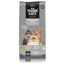 Ração Three Cats Para Gatos Adultos Castrados 8 Kg