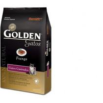 Ração Golden Gatos Adultos Castrados Frango 10kg + Brinde