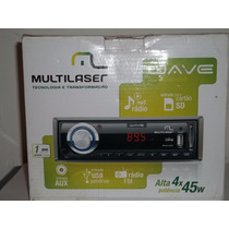 Auto-rádio Multilaser Wave Novo Na Caixa Sem Uso